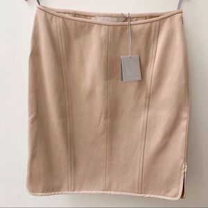 Reed Krakoff Double Faced Cotton Silk Pencil Skirt